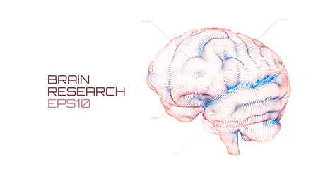 Brain research futuristic medical ui. IQ testing, artificial intelligence virtual emulation science technology 일러스트