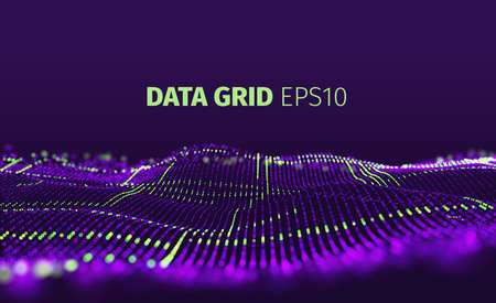 Data grid vector abstract background