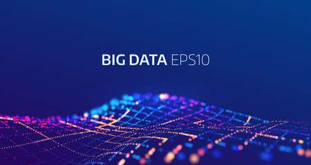 Fondo de vector abstracto de datos grandes. Visualización de bigdata