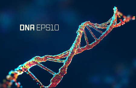 dna molecule vector illustration. Genetic science abstract background. Gene design. biotechnology Illustration