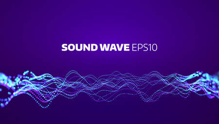 Soud wave vector abstract background. Electronic element equalizer. Music motion signal pulse 일러스트