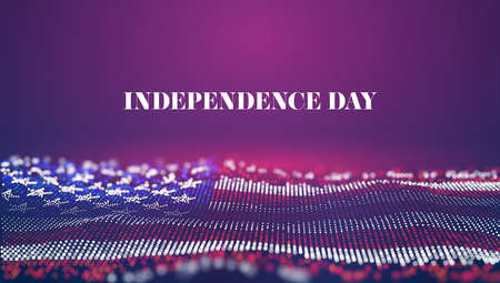 Independence day abstract vector background. USA flag. 4th of july national celebrate. Liberty symbol. United states of America event