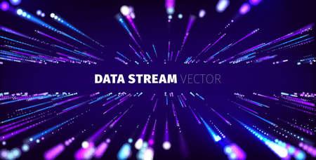 Data stream tunnel abstract vector background. Data transfer 일러스트