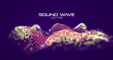 Modern ribbon. Abstract neon wave. Sound wave equalizer.