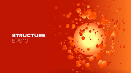 3d abstract blood for banner design. Health care. Scientific research. 向量圖像