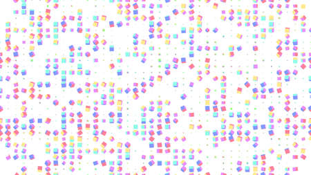 Seamless geometric 3d cubes vector background. 3d boxes spin grid. Minimal background