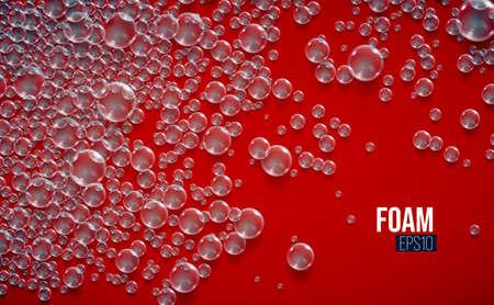 Vector soap bubbles background. Condensate vector bubble. Illusztráció