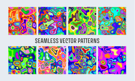 Khaki bright seamless. Abstract glitch background. Liquid colorful background. Seamless texture. Vector illustration. Marble pattern. Abstract paint swirl. Psychedelic swirl. Vektorové ilustrace