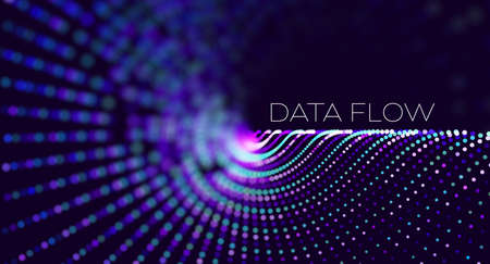 Big data. Security technology digital wave background concept. Bigdata abstract vector background. Binary code structure. Wave flow. Data radar stream.