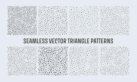 Seamless triangle pattern. Gray geometric vector pattern. Shape seamless texture.