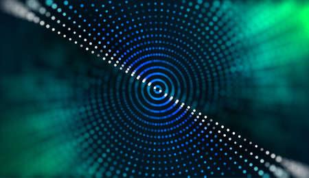Bigdata computing vector background. Big data.Computer vision abstract. Futuristic data chart analysis.