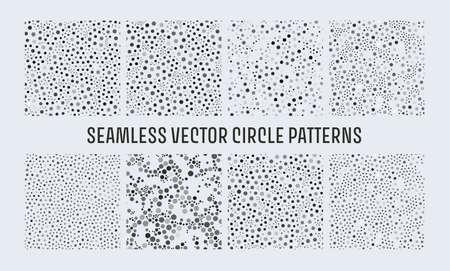 Dots noise black seamless pattern. Vector polka pattern. Confetti background. Creative geometric wallpaper. Point texture.