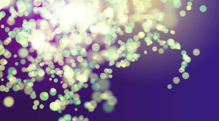 Bokeh nature vector background. Morning background. Spring forest blurry environment.