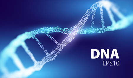 Futuristic medicine technology. Genetic abstract concept. DNA vector background. Genome tech.