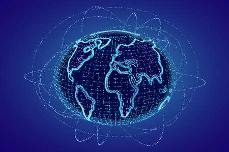 Futuristic hud globe. World global technology vector background.. Network tech.