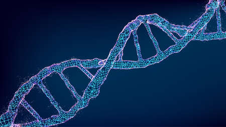 Dna vector illustration. Abstract technology background. Biology, science background.