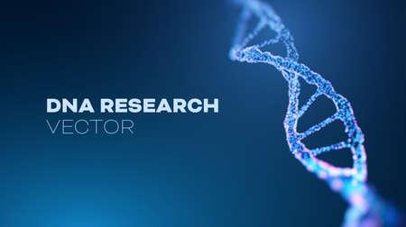 DNA research vector background. Futuristic medicine genome helix