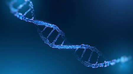 DNA research vector background. Futuristic medicine genome helix hologram