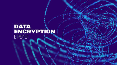 Data encryption technology background. Data protection. Digital technology. Abstract vector background.