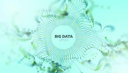 Data analytics abstract vector background. Sound wave. Wave flow. Big data. Abstract background.