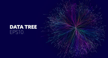 Data tree for concept design. Business technology. Wireframe light connection structure. Network cyber technology. Social network. 矢量图像