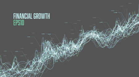 Stock market growth concept. Financial chart. Abstract technology background. Data analytics. Big data analysis