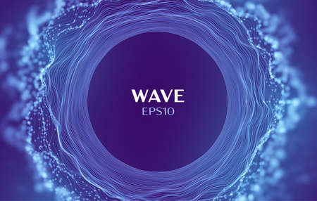 Wave of sound data. Abstract music vector background. Circle cloud music wave 矢量图像
