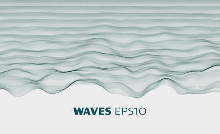 Abstract vector minimal background. Sound waves. Cloth wave. Pulse sound data