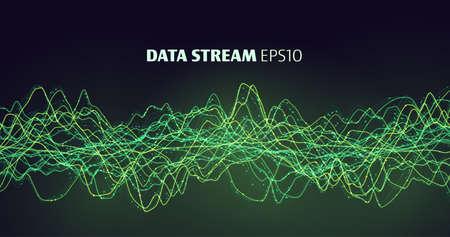 3d 5G data stream. Internet technology. Bigdata stream. Big data. Stock Illustratie