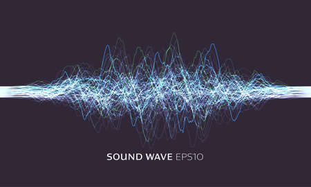 Science, technology background. Vector sound wave. Abstract music pulse background. Vector data stream illustration. Sound equalizer, great design for any purposes. 矢量图像