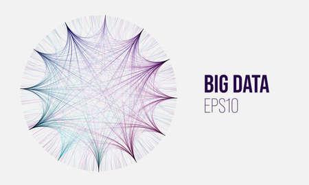 Big data minimal geometry vector background. Circular hud data analysis. Analytics sort information Stock Illustratie