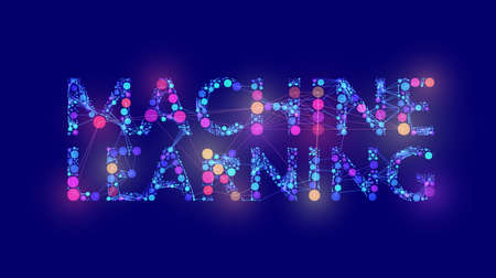 Machine learning, great design for any purposes. Machine learning capture Stock Illustratie