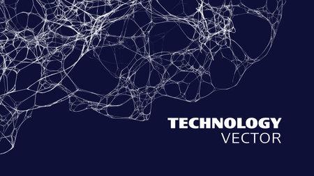 Neural network technology. Neural network AI concept. Neuron medical data. Biology science backgorund.