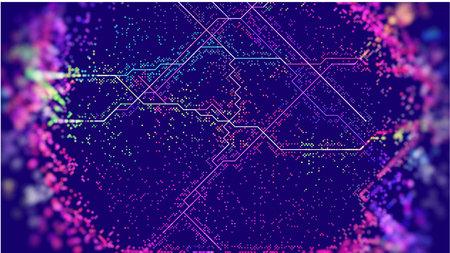 Abstract cyberpunk vector background. Circuit future tech. IOT