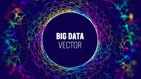 Big data IOT background. Big data artificial intelligence analysis technology background. Neural network technology