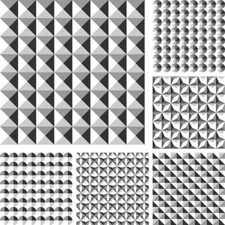 polyhedral: Design seamless geometrical pattern. Vector art.