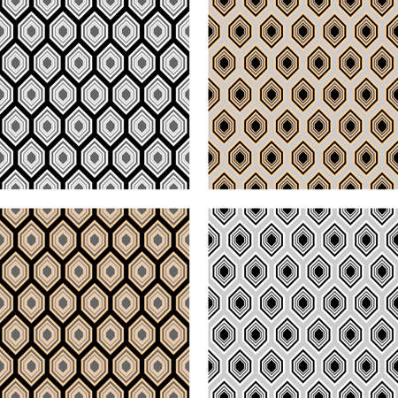polyhedral: Design seamless hexagon pattern  Vector art
