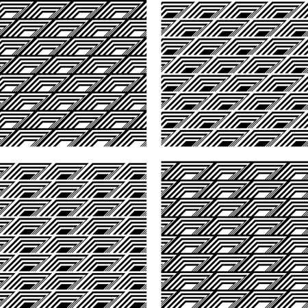 parallelogram: Design seamless geometric pattern. Vector art