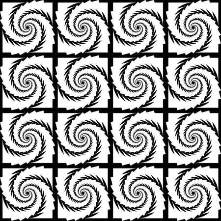 spiral pattern: Design seamless monochrome spiral pattern.