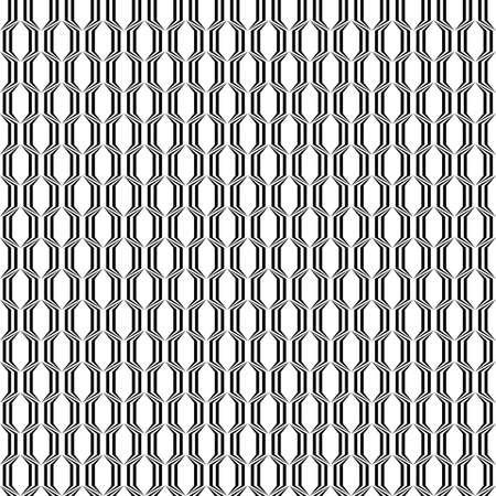 polyhedral: Design seamless monochrome lattice pattern. Vector art