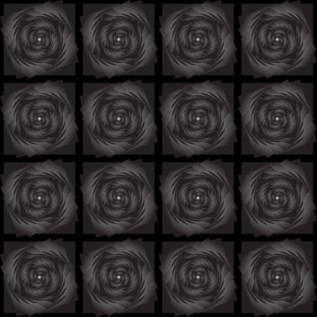 Design seamless black decorative pattern. Vector art Vector