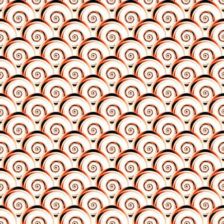 shell pattern: Design seamless diagonal shell pattern. Vector art