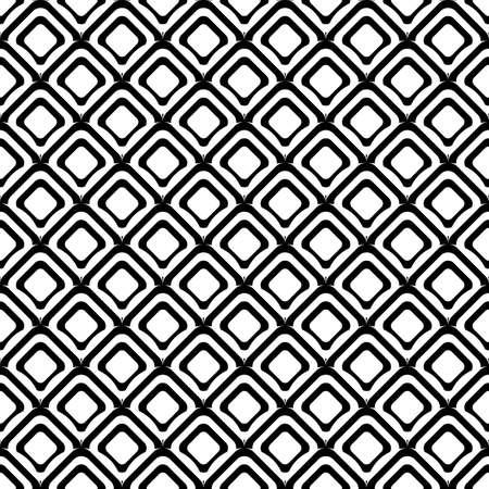 uncolored: Design seamless uncolored diamond background. Vector art