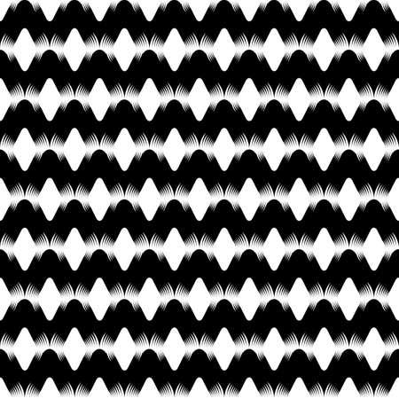 uncolored: Design seamless uncolored zigzag background. Vector art Illustration