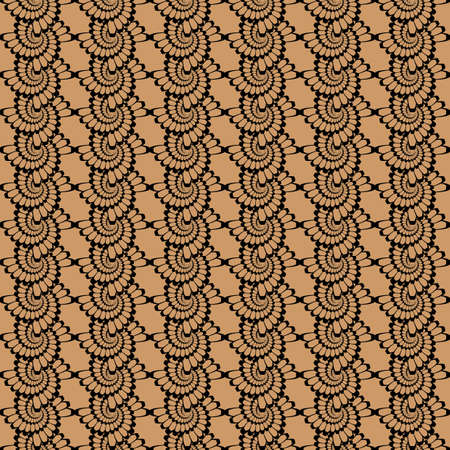 Design seamless monochrome vertical wattled pattern. Vector art Illustration