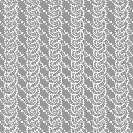 wattle: Design seamless monochrome helix vertical pattern. Vector art