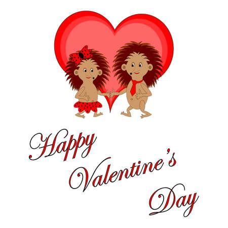 面白い男の子と女の子言葉幸せなバレンタイン