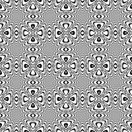 Design seamless monochrome speckled background. Abstract decorative rotation pattern. Vector art Vector