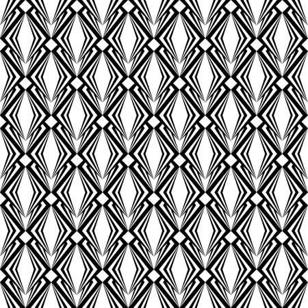 parallelogram: Dise�o del modelo del diamante blanco y negro incons�til abstracto con textura geom�trica de fondo Vector de arte Vectores