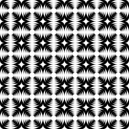 abstract cross: Disegno senza soluzione di continuit� monocromatica croce modello astratto Vector art Vettoriali